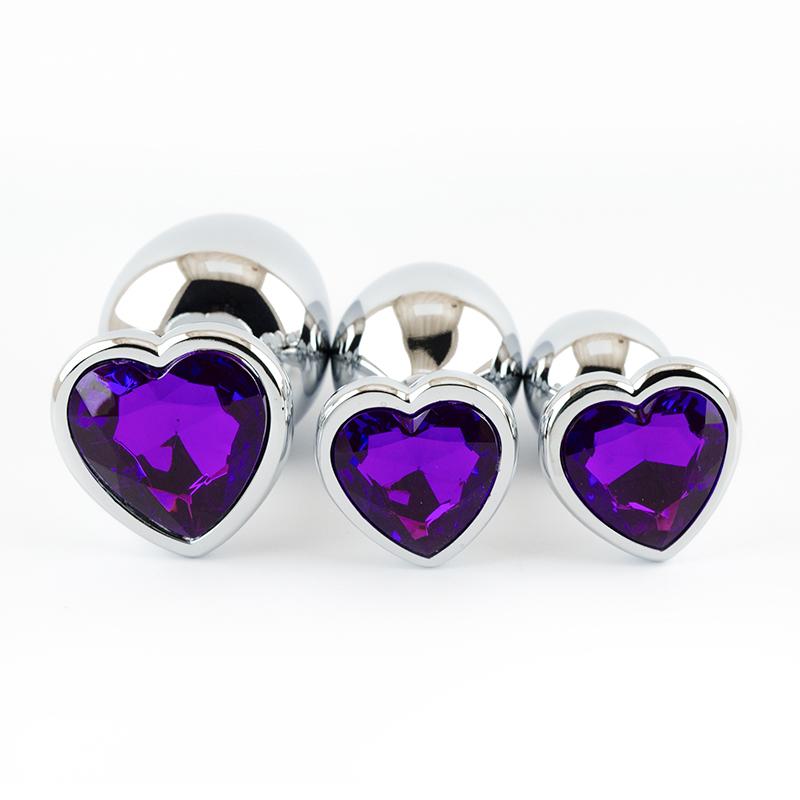 Jewelled Heart Anal Plug