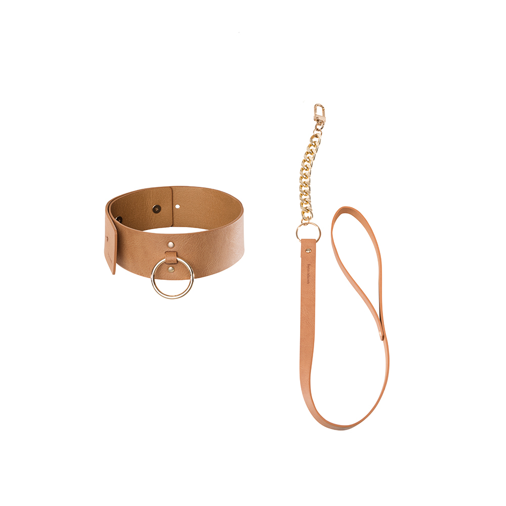 Wide Choker with Leash